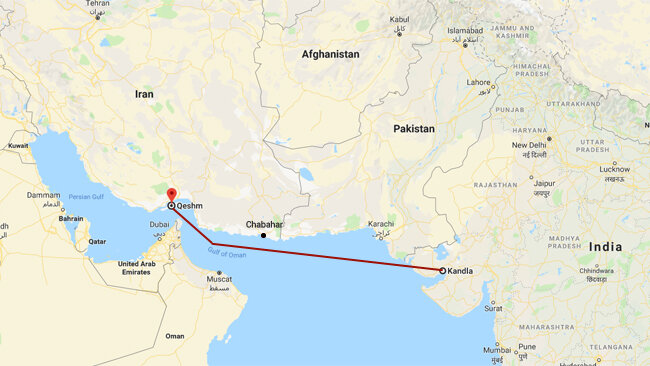 Iran, India launch new direct shipping route